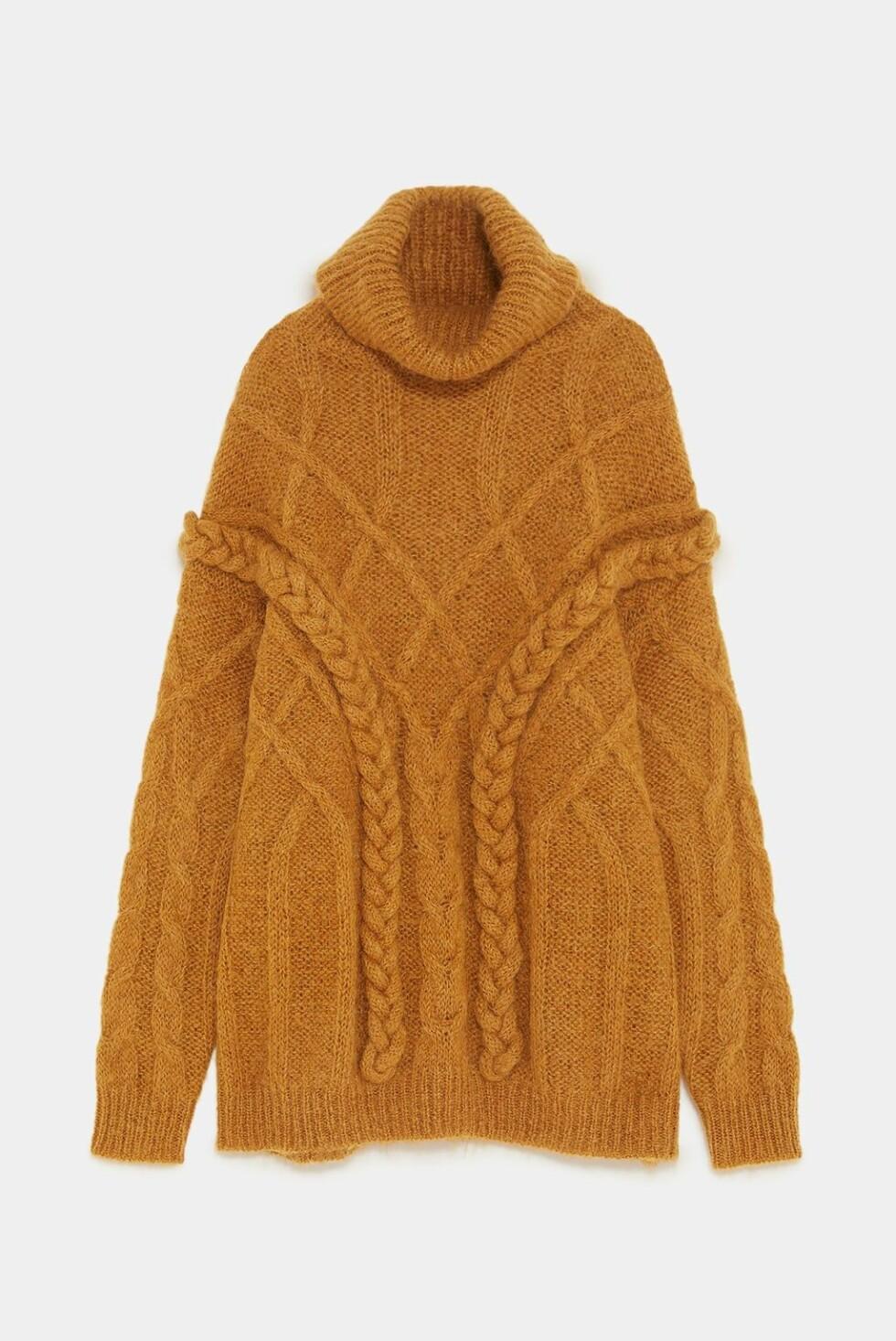 Genser fra Zara |650,-| https://www.zara.com/no/no/genser-med-flettem%C3%B8nster-limited-edition-p02488106.html?v1=6645125&v2=1074660