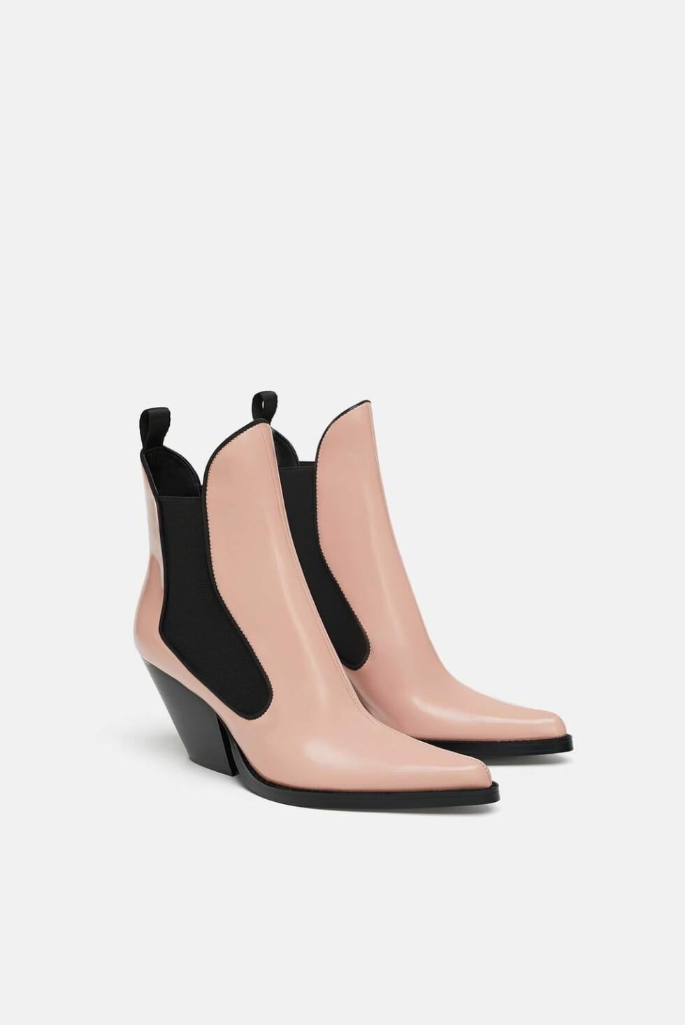 Boots fra Zara |700,-| https://www.zara.com/no/no/cowboyskolett-p17112301.html?v1=6682507&v2=1074625