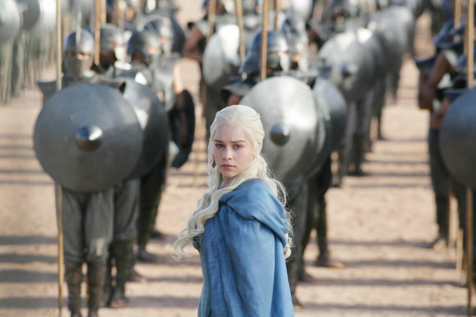 GOT: Emilia Clark som rollefiguren Daenerys Targaryen. FOTO: HBO
