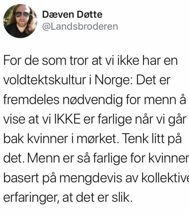 FOTO: Skjermdump Twitter