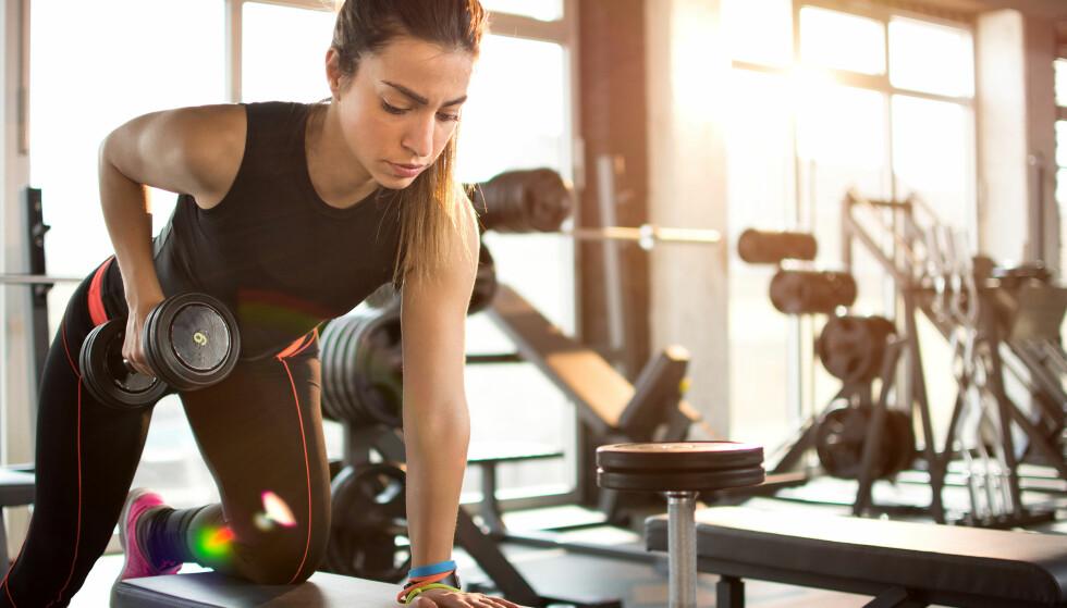 STYRKETRENING: Den beste effekten av styrketreningen får du faktisk i de to første ukene av syklusen. Foto: Scanpix.