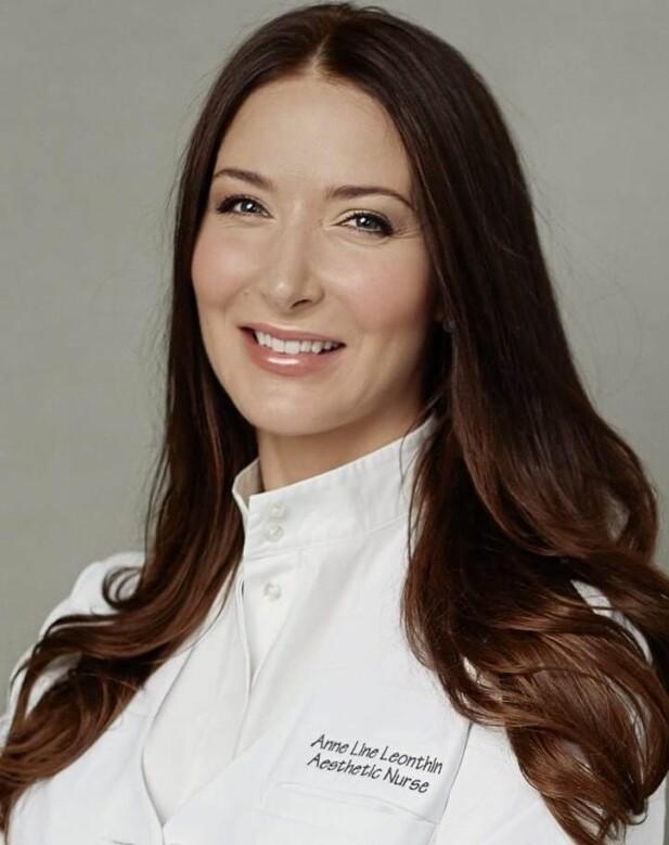 EKSPERT: Kosmetisk dermatologisk sykepleier Anne Line Leonthin forteller at hyaluronsyre sørger for bedre vevskvalitet, og gir fuktighet, spenst og struktur. FOTO: Privat