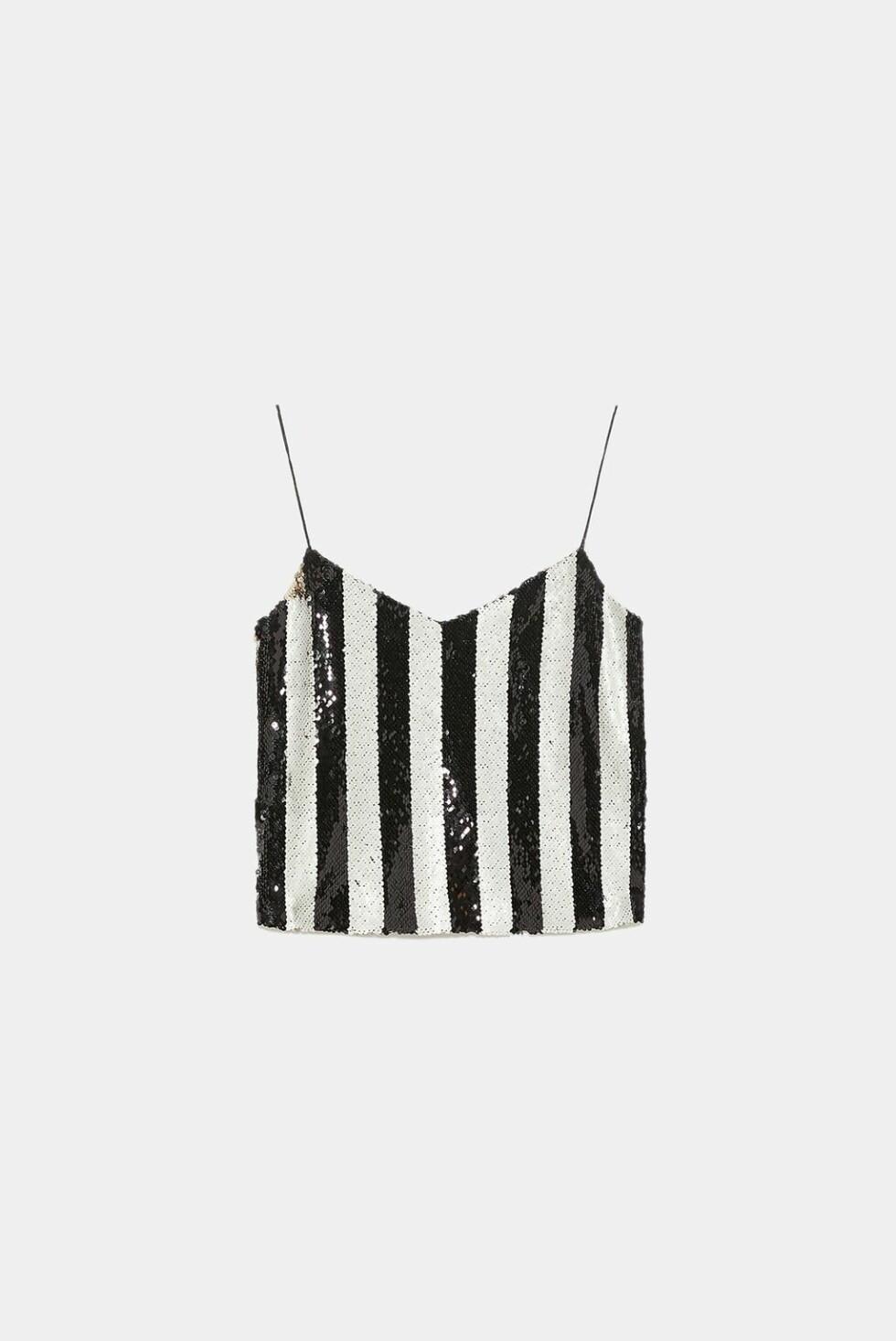 Topp fra Zara |399,-| https://www.zara.com/no/no/topp-med-stropper-og-paljetter-p07901211.html?v1=7767088&v2=1080528