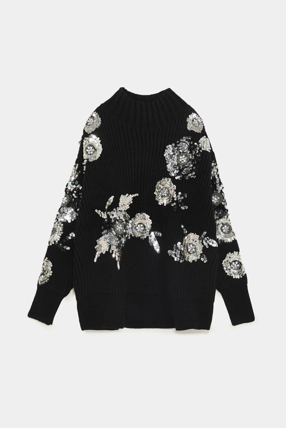 Genser fra Zara |650,-| https://www.zara.com/no/no/genser-med-blomster-og-paljetter-p06206100.html?v1=7767465&v2=1074660