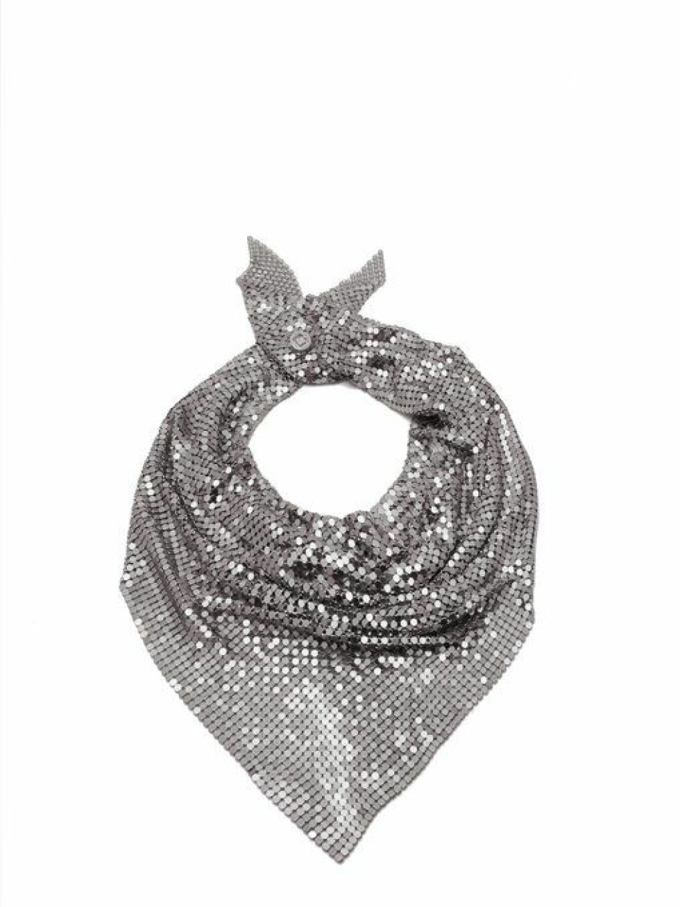 Skjerf fra Paco Rabanna |2755,-| https://www.matchesfashion.com/intl/products/Paco-Rabanne-Chainmail-mesh-scarf-1219282