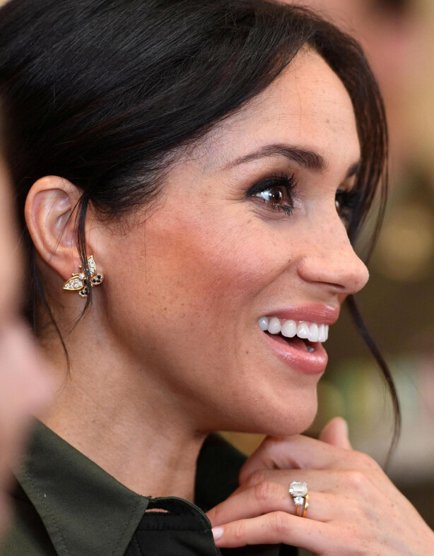 FLOTT GLØD: Hertuginne Meghan bruker Jane Iredals bronzer for å få den fine fargen i kinnene. Foto: Scanpix