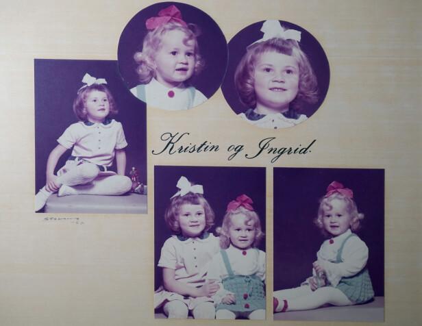 SJARMTROLL: Moren til Ingrid og Kristin sydde like klær til de to søstrene. De hadde et nært og varmt forhold både i barndommen og i tiden før drapet. FOTO: Privat