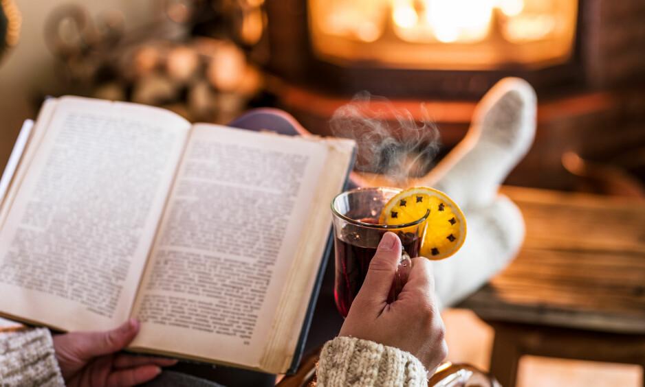 BOKTIPS: Når julestria har tatt all energi fra deg, er det ingenting som funker bedre enn å ta seg en pust i bakken med en god kopp te (eller kanskje litt julegløgg) og en god bok! Her har du våre anbefalinger. FOTO: NTB Scanpix