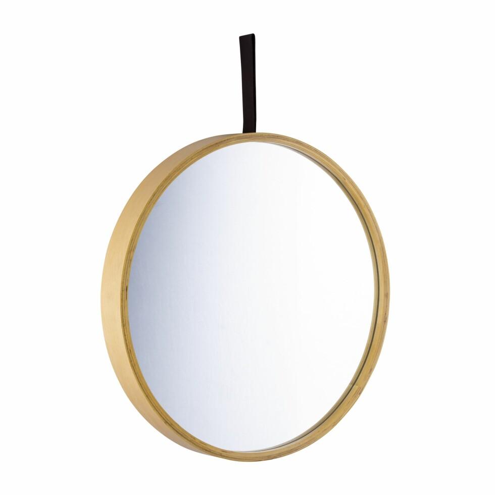 Speilet «Kajsa» er 40 cm i diameter (kr 299, Kremmerhuset).