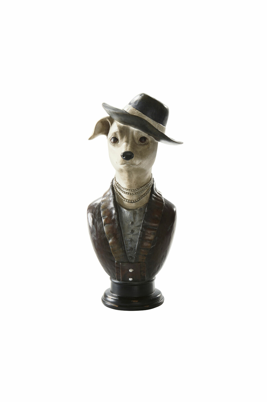 Stilige «Charlie» er en forseggjort byste av en whippet-hund som sprer sjarme irommet (kr 249, Jotex).