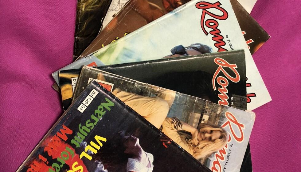 HETE NETTER OG VILLE SOMRE: Bladet «Romantikk» har fulgt mang en jente gjennom ungdomstiden. og mang en gutt også. Både kontaktannonser og spalten «Mitt første kyss» hadde også mannlige innsendere. FOTO: Hege Løvstad Toverud/faksimile «Romantikk»