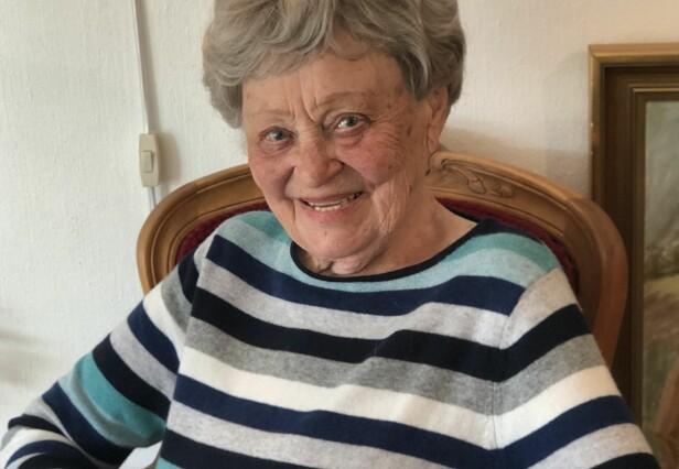 LOUISE (101): Den spreke 101-åringen bor alene, og er svært aktiv og sosial. I november gikk hun catwalkshow på sitt lokale kultursenter. FOTO: Malini Gaare Bjørnstad