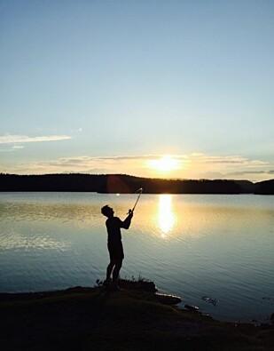 - Hans Kristian elsket å fiske. Fant en egen ro i kast på kast. FOTO: Privat