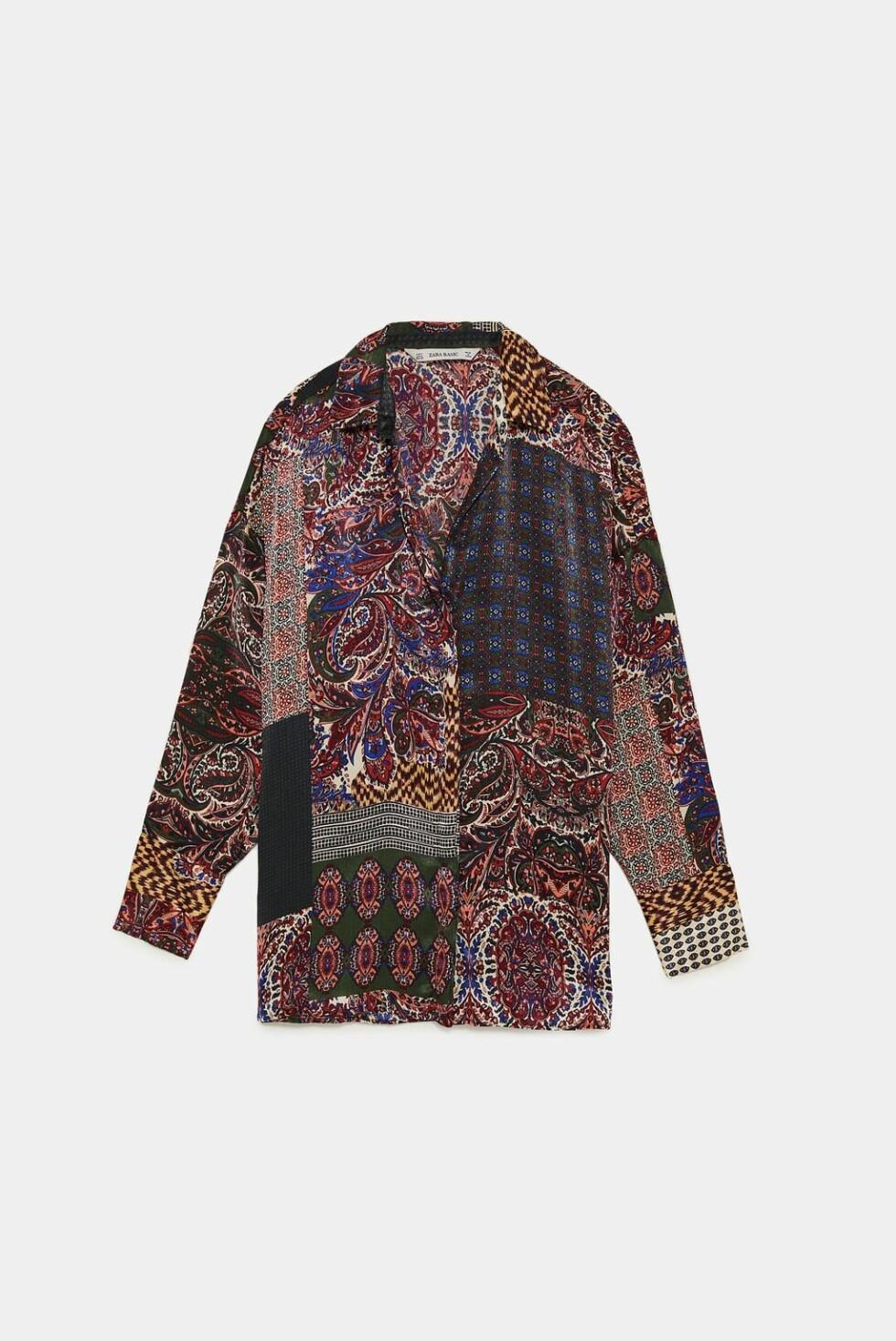 <strong>Skjorte fra Zara  350,-  https:</strong>//www.zara.com/no/no/skjorte-med-lappem%C3%B8nster-p08117142.html?v1=7145546&v2=1074755