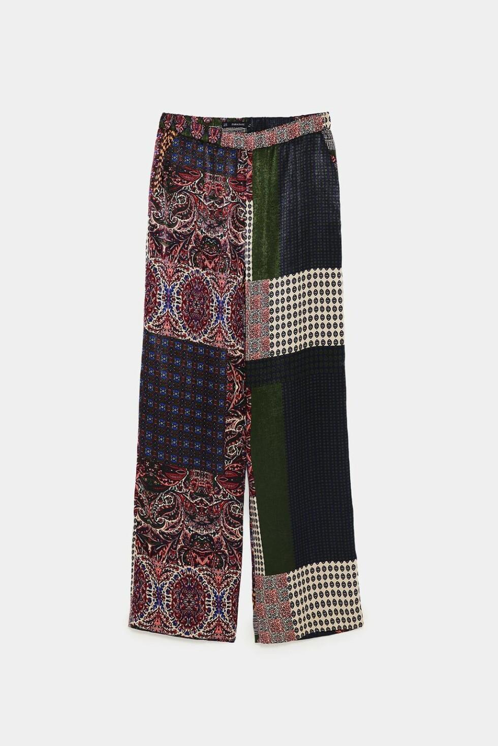 <strong>Bukse fra Zara  400,-  https:</strong>//www.zara.com/no/no/bukse-med-lappem%C3%B8nster-p08110142.html?v1=7215094&v2=1074755