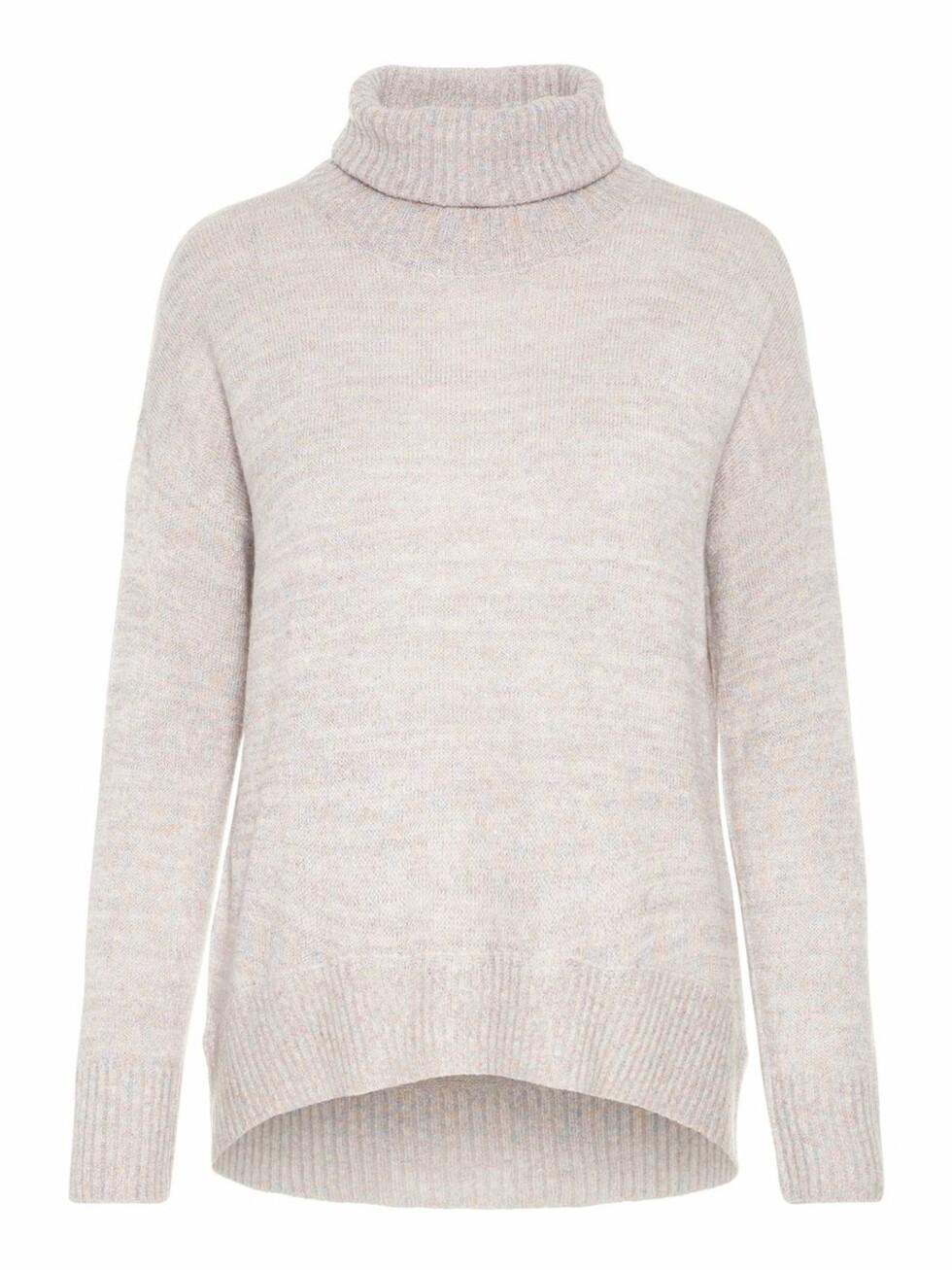 <strong>Genser fra Vero Moda  250,-  https:</strong>//www.veromoda.com/no/no/vm/kjoep-etter-kategori/strikk/glitrende-strikket-pullover-10206524.html?cgid=vm-knitwear&dwvar_colorPattern=10206524_Eggnog_652908