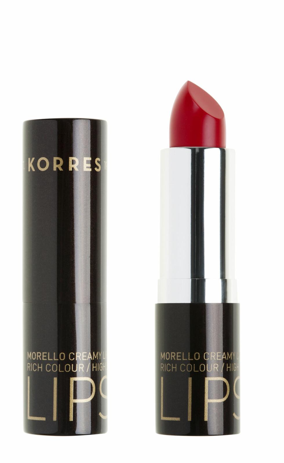 Classic Red (kr 200, Korres, Morello Lipstick).