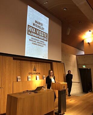 PRESSEKONFERANSE: 8. november 2018 ble det avholdt pressekonferanse på Gyldendal-huset i forbindelse med lanseringen av boken «Hva visste hjemmefronten?». FOTO: Malini Gaare Bjørnstad