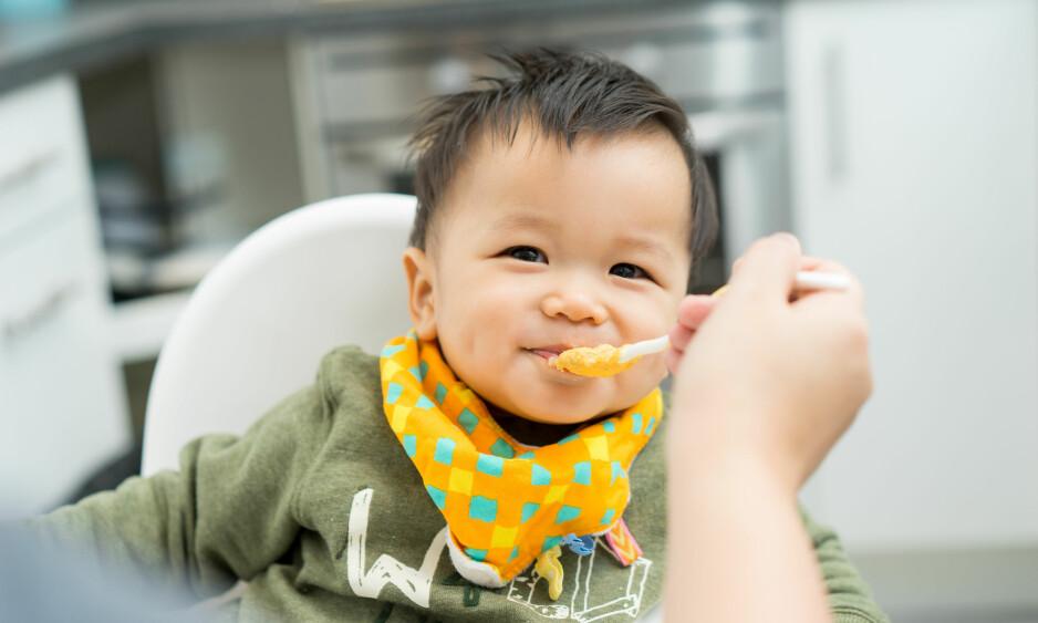 GODE SPISEVANER: Det er ifølge ekspertene lurt å etablere gode spisevaner så tidlig som mulig. FOTO: NTB Scanpix