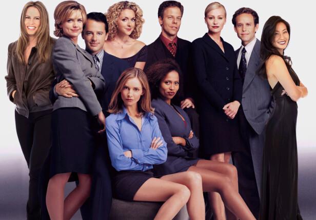 LETTLIVET GJENG: Man var glad i å vise kvinnebein i advokatserien «Ally McBeal».