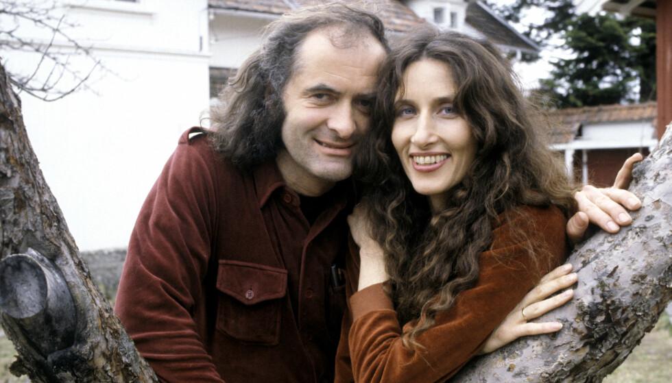 YNGRE DAGER: Filmparet Vibeke Løkkeberg og Terje Kristiansen i 1983, mens de bodde på Ås, hvor Kristiansen var kinosjef. FOTO: NTBScanpix
