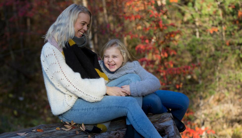 TO BARN PÅ JULAFTEN: Lene hadde aldri trodd at hun, 10 år etter at førstemann kom til verden, skulle føde sitt andre barn på julaften. FOTO: Truls Kleiven
