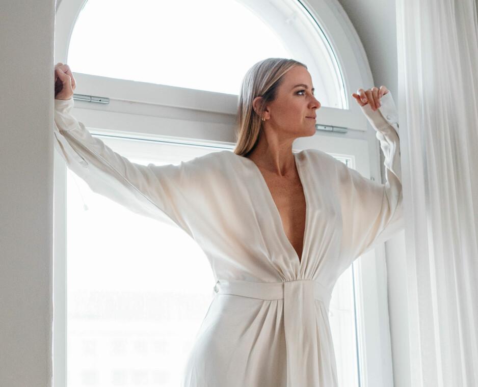 LANSERER EGET MERKE: Moteprofilen Celine Aagaard får internasjonal oppmerksomhet for klærne hun har designet. FOTO: Håkon Jørgensen