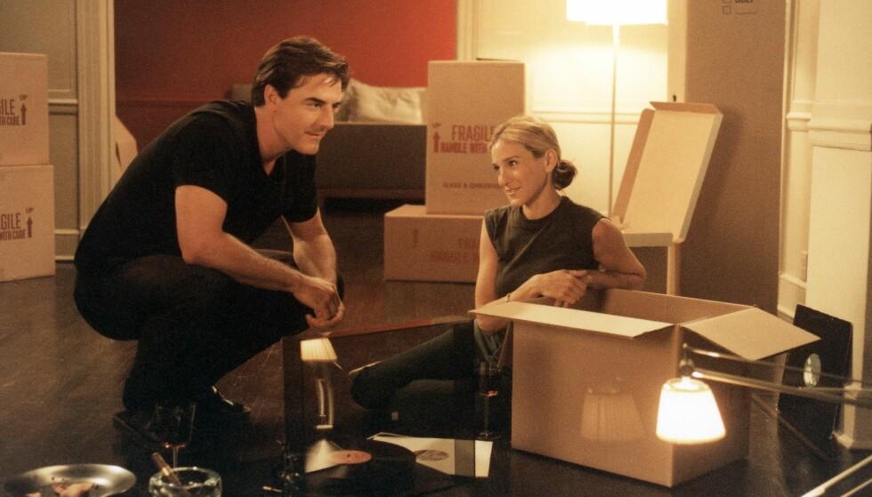 <strong>EVIG KJÆRLIGHET:</strong> Carrie og Mr. Bigs forhold gikk opp og ned, men til slutt ble det de to. Her er Mr. Big - hvis hele og fulle navn er James Preston - på flyttefot til Napa i California fra New York. Bildet er hentet fra serien. FOTO: HBO