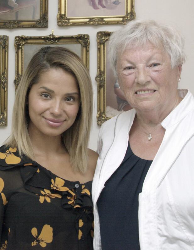 JORUN OG MORMOR: - Jorun har begge beina på jorda og et stort hjerte, sier mormor Lillian Lundevold. FOTO: Privat