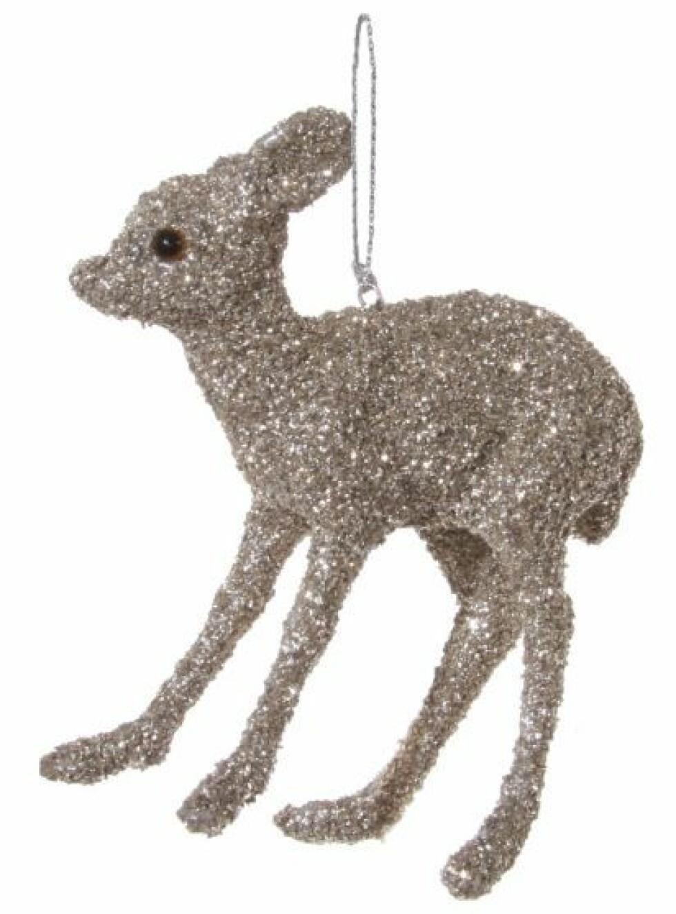 Pynt fra Shishi  60,-  https://www.millaboutique.no/nyheter/bambi-glitter-solv