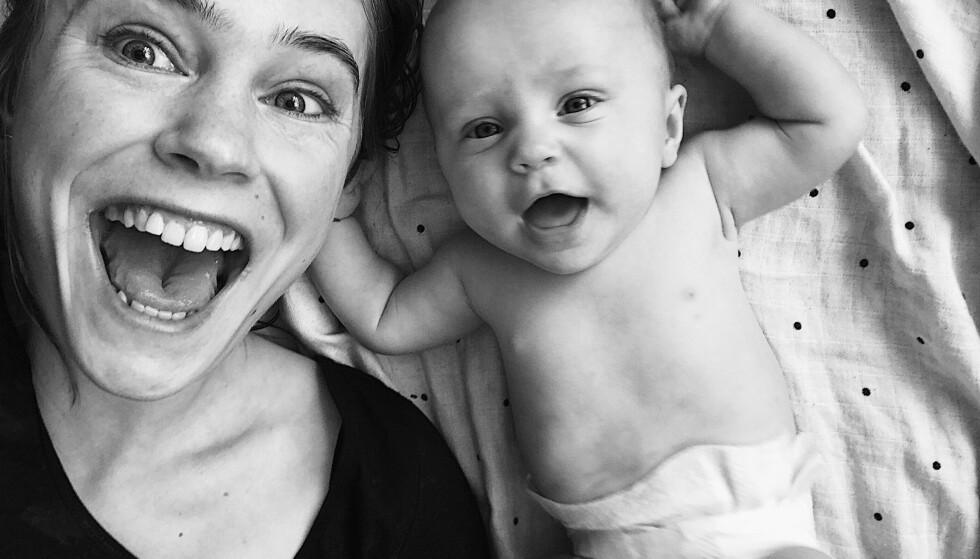 CHRISTINE OG PIL: - Jeg elsker å være mamma, virkelig. Tiden hjemme med Pil er så utrolig verdifull, og jeg nyter det til det fulle, sier Christine. FOTO: Privat