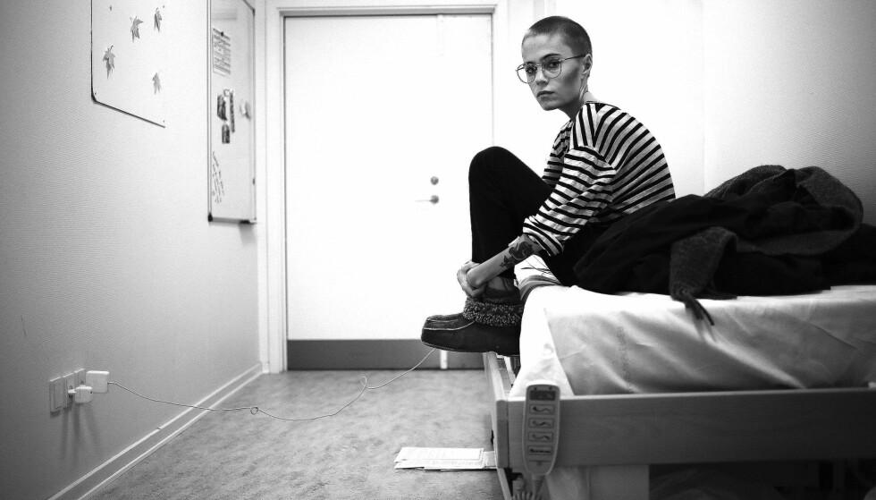 BEHANDLING: Christine slet med depresjon og angst, i tillegg til spiseforstyrrelsen. Til slutt orket hun ikke mer, og gikk med på å bli innlagt ved psykiatrisk avdeling. FOTO: Privat