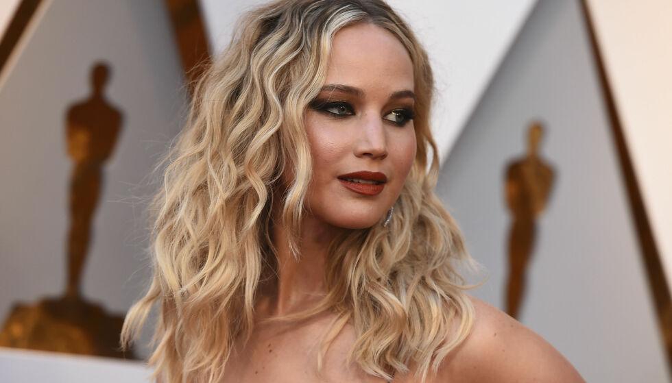 AVSTANDSFORELSKELSE: Jennifer Lawrence er en av mange stjerner som har åpnet seg om hvilke av sine kjendiskolleger de er småforelsket i; for henne kommer blant annet Justin Timberlake og skuespiller Timothée Chalamet høyt opp på listen. FOTO: NTB Scanpix