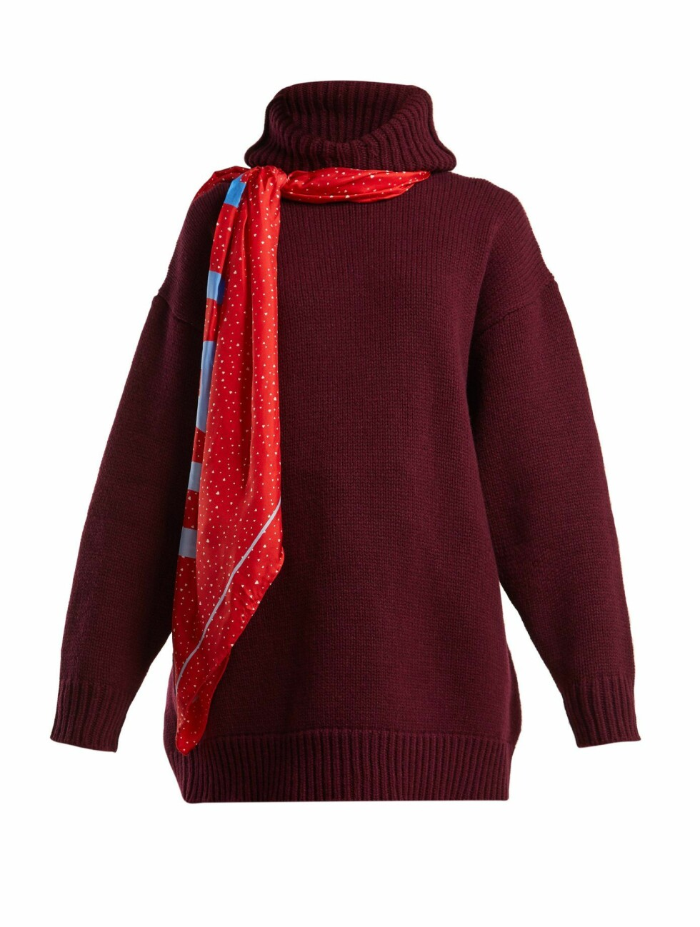 Balenciaga |10515,-| https://www.matchesfashion.com/intl/products/Balenciaga-Scarf-hooded-wool-sweater-1233062
