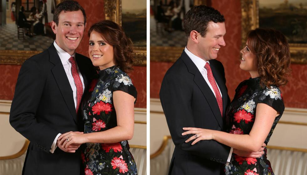 FORLOVELSE: I januar ble det kjent at prinsesse Eugenie hadde forlovet seg med forretningsmannen Jack Brooksbank. FOTO: NTB Scanpix