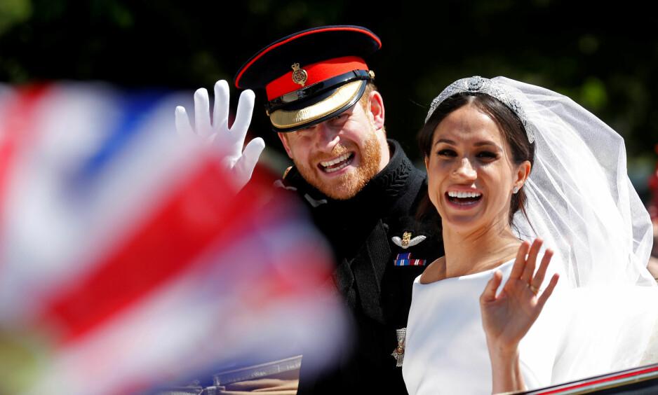 ÅRETS HØYDEPUNKT: Spør du oss var bryllupet mellom prins Harry og hertuginne Meghan i mai et av årets desidert største høydepunkt i løpet av kongeåret 2018. FOTO: NTB Scanpix