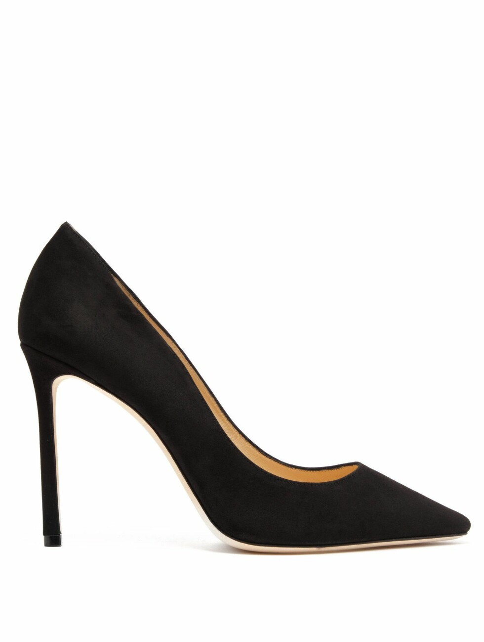 <strong>Sko fra Jimmy Choo |4005,-| https:</strong>//www.matchesfashion.com/intl/products/Jimmy-Choo-Romy-100-suede-pumps-1209182
