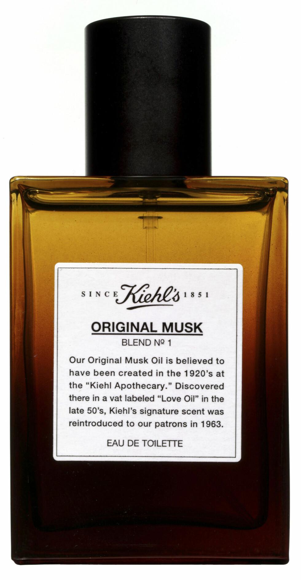«Original Musk»-eau de toilette-spray (kr 395, Kiehls).