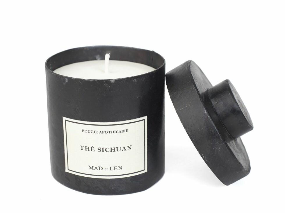 Duftlyset «Thé Sichuan» er naturlig og håndstøpt i Sør-Frankrike (kr 895, Mad et Len).