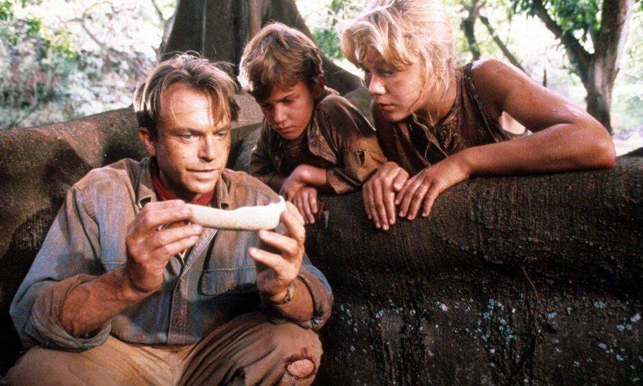 25 ÅR SIDEN: I «Jurassic Park» ble to av filmens mest sentrale roller portrettert av barn. Ariana Richards og Joseph Mazzello spilte henholdsvis Lex og Tim Murphy, barnebarna til parkens skaper. FOTO: NTB Scanpix