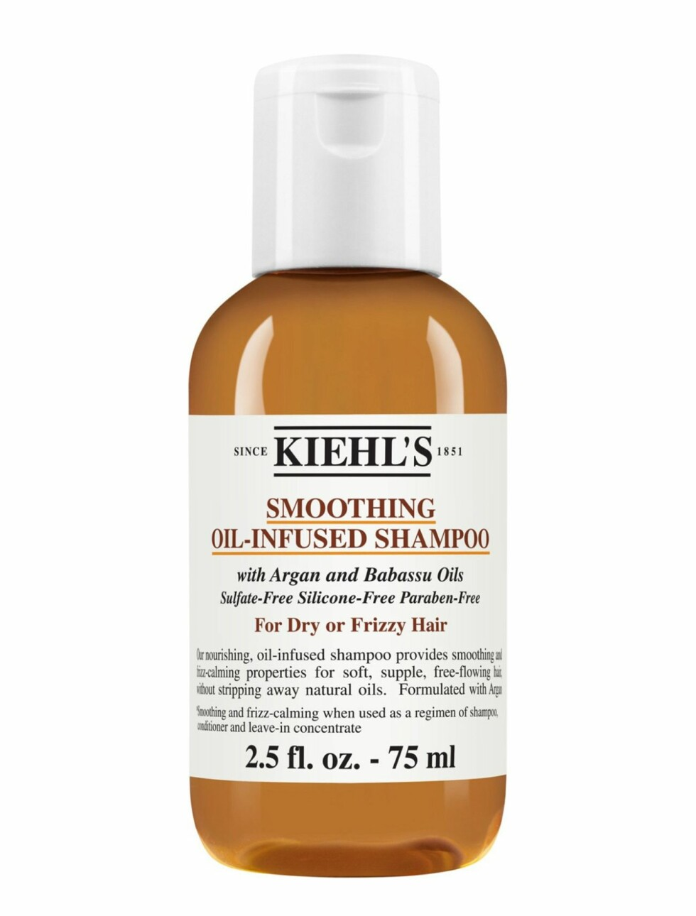 Sjampo fra Kiehl's  90,-  https://www.boozt.com/no/no/kiehls/smoothing-oil-infused-shampoo_18337157/18337163?navId=67599&group=listing&position=1400000
