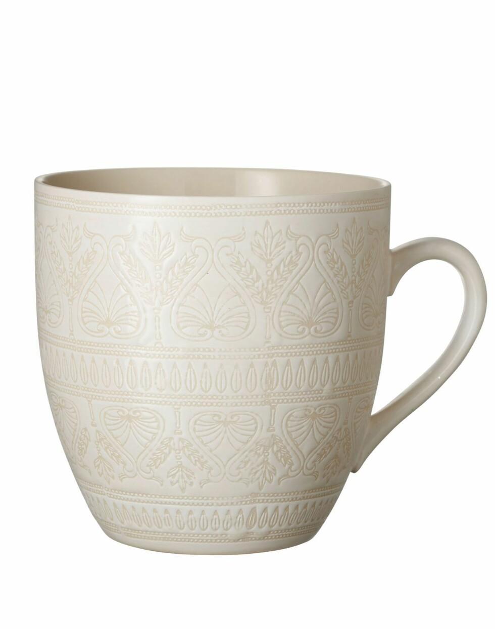 Krus fra Indiska  99,-  https://indiska.com/no/Interi%C3%B8r/Glass-%26-porselen/krus-og-boller/XL-MUG/p/1000008117105