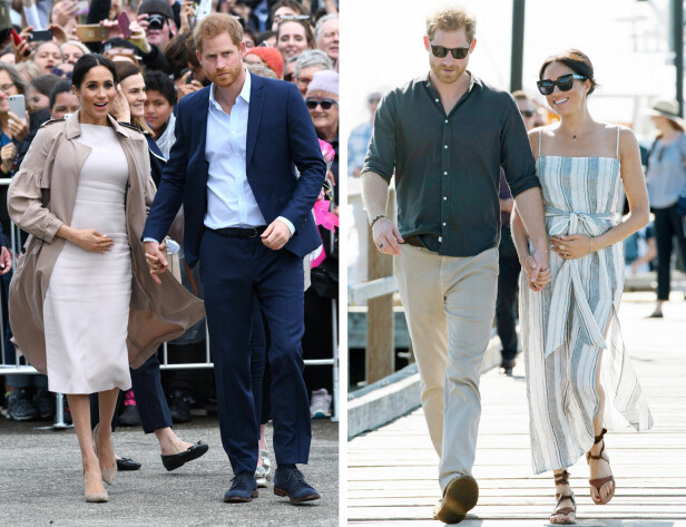 BABYLYKKE: I midten av oktober ble det kjent at prins Harry og kona hertuginne Meghan venter sitt første barn. Terminen er satt til våren 2019. Samme dag som babynyheten ble kjent ankom de Australia for offisielt oppdrag. FOTO: NTB Scanpix