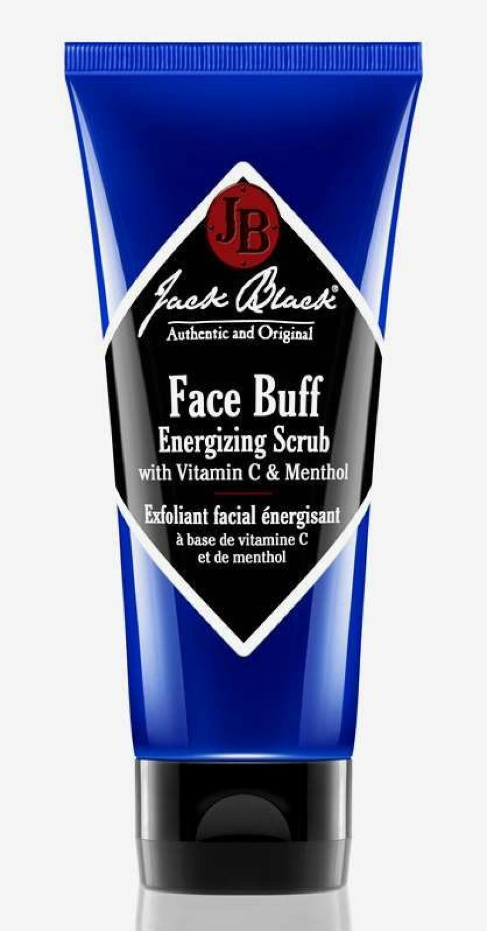 Jack Black Energizing Scrub |189,-| https://www.kicks.no/jack-black/mann/ansiktspleie-for-menn/ansiktsrens/face-buff-energizing-scrub