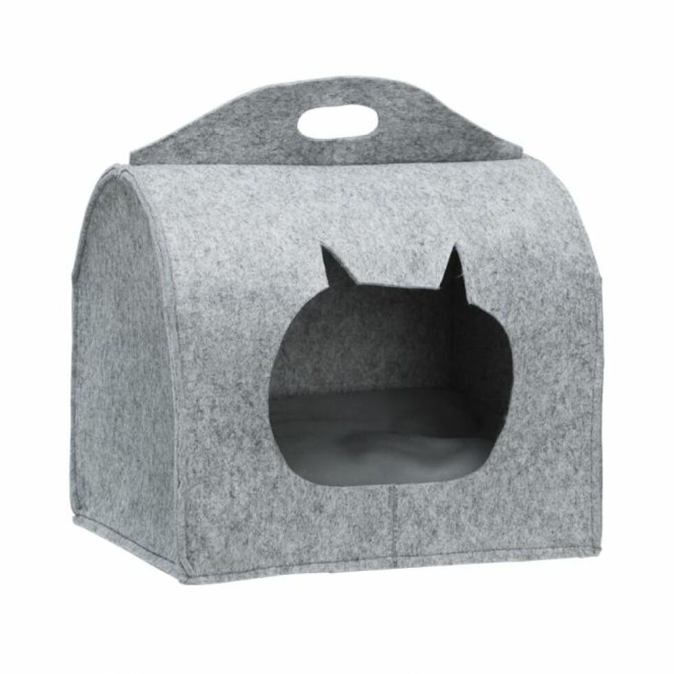 Seng til katt |249,-| https://www.musti.no/little-bigger-catcave-bax-gra?61035