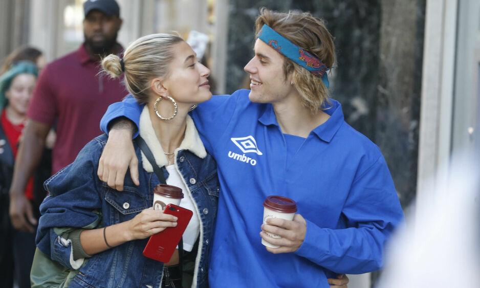 EKTEPAR: Etter å ha blitt kjærester for andre gang, giftet modell Hailey Baldwin (nå Hailey Bieber) og Justin Bieber seg tidligere i år. FOTO: Scanpix