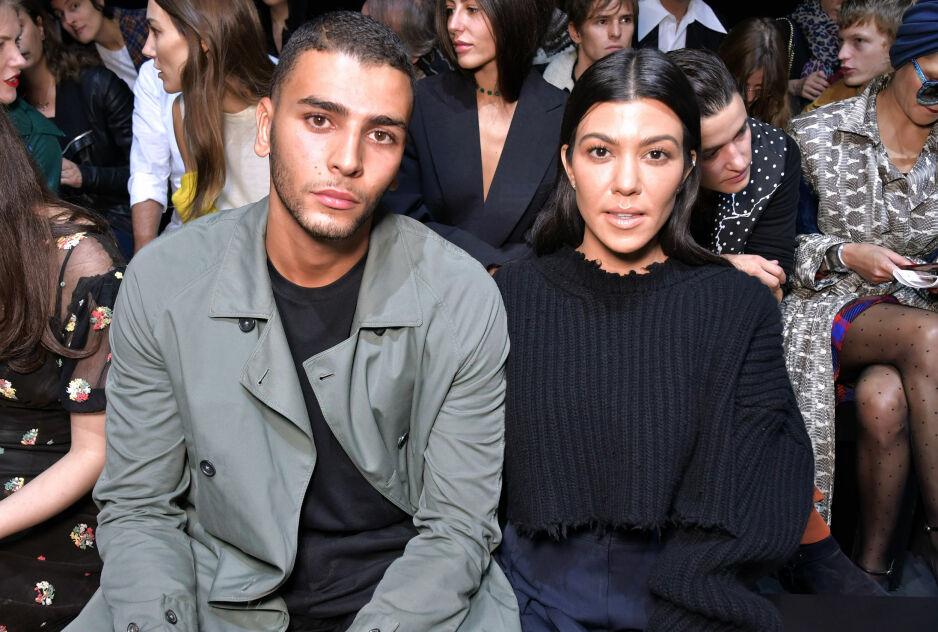 OVER OG UT: Kourtney Kardashian og modell(eks-)kjæresten Younes Bendjima er blant stjerneparene som har gått fra hverandre i 2018. FOTO: NTB Scanpix