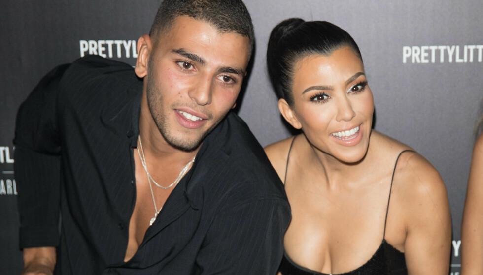 DRAMATISK: Ifølge amerikanske nettsteder skal bruddet mellom Kourtney Kardashian og 15 år yngre Younes Bendjima ha vært alt annet en vennlig. FOTO: Scanpix