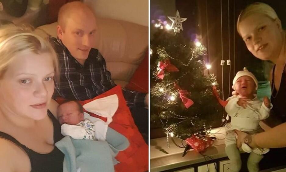 FØDE PÅ JULAFTEN: – Julaften var vel den eneste dagen jeg ikke ønsket å føde, sier Rutt Tove Nilssen Forsmo som fødte på julaften. FOTO: Privat