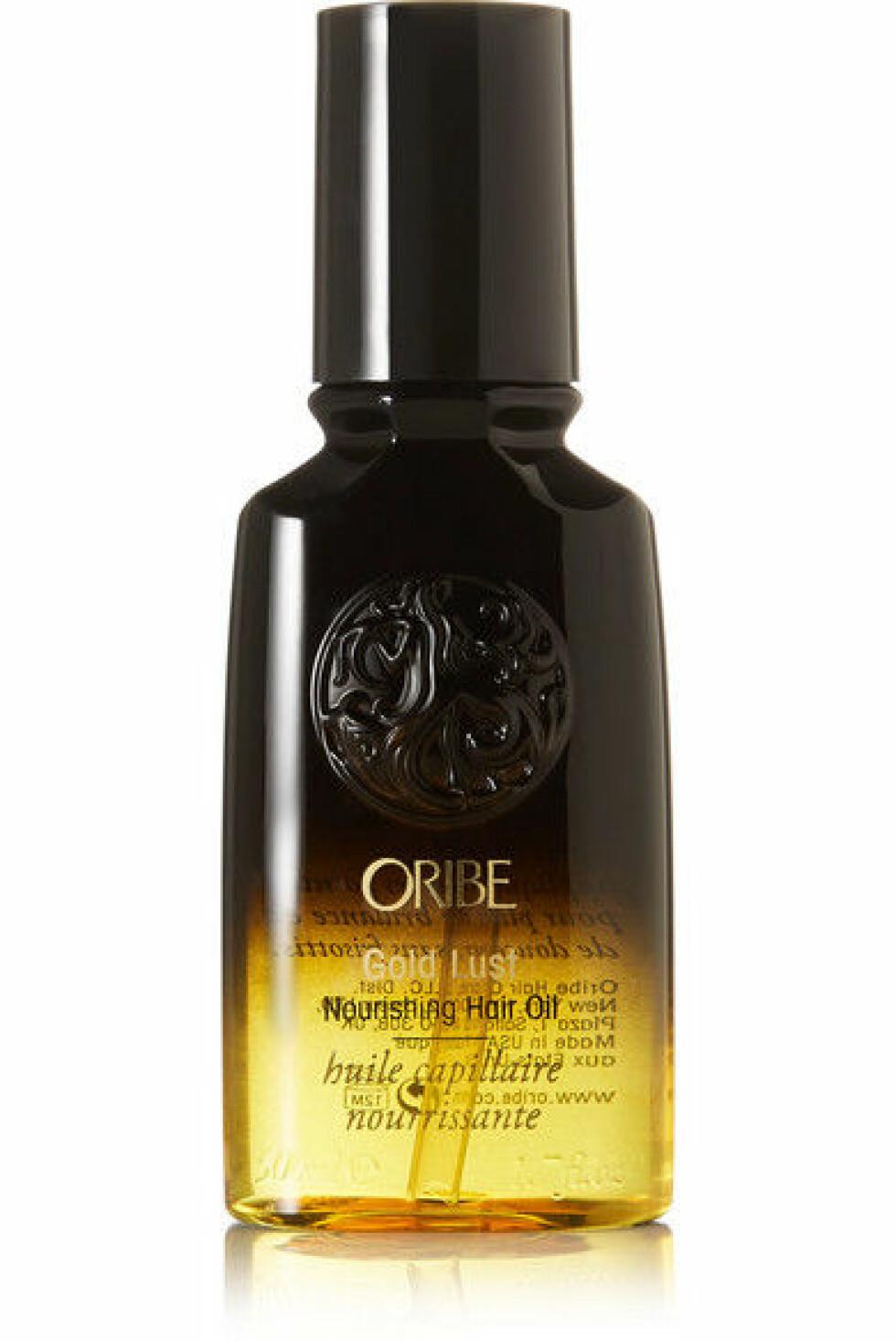 Hårolje fra Oribe |416,-|https://www.net-a-porter.com/no/en/product/960308/Oribe/gold-lust-nourishing-hair-oil-50ml